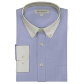 《MURANO》男款白領商務長袖襯衫 - 藍(L)