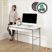 《BuyJM》簡單型低甲醛粗管仿白馬鞍皮雙抽工作桌(寬120cm)(白色)