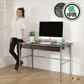 《BuyJM》簡單型防潑水低甲醛粗管雙抽屜工作桌(寬120cm)(胡桃色)