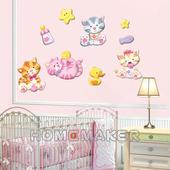 高周波泡棉壁飾貼-貓咪_LK-PDA3506(41cm*29cm)