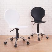 《BuyJM》皮面鐵腳PU輪辦公椅/電腦椅(黑色)