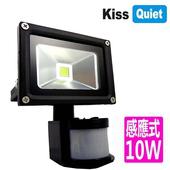 《Kiss Quiet》質感黑(白光/黄光)10W LED感應投射燈,全電壓高PFC-1入(黑體-白光)