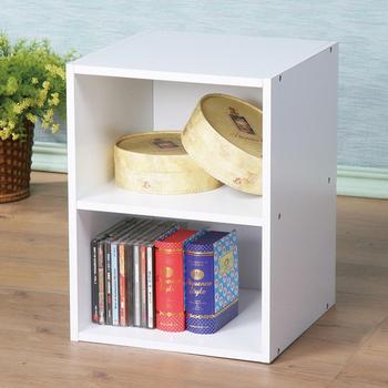 《Homelike》現代風二格小空櫃(白色)