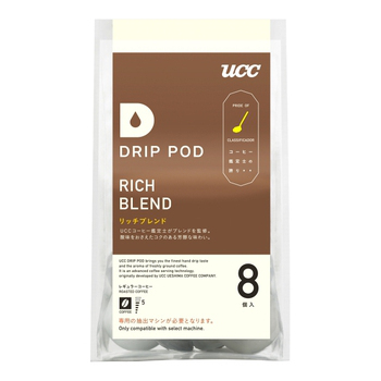 UCC DRIP-POD 咖啡萃取膠囊口味系列(DRIP-POD 嚴選香醇咖啡7.5g*8p*6袋/箱)