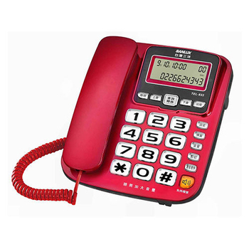 SANLUX 台灣三洋 來電顯示有線電話機 TEL-832(三色)(紅色)