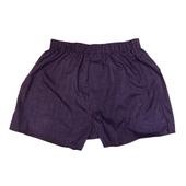 《MURANO》男款平口褲2件組合 - 深棕格紋(L)