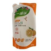 《楓康》一滴淨食品用洗碗精補充包-柑橘(800g)