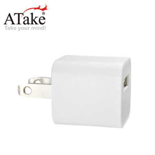 ATake AC轉USB電源轉接頭 1port(5V/1A)