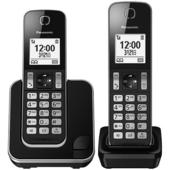 《PANASONIC 國際牌》DECT 無線雙子機 KX-TGD312TW(黑色)
