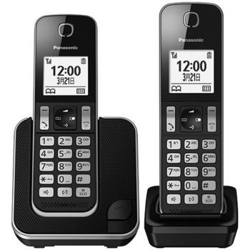 PANASONIC 國際牌 DECT 無線雙子機 KX-TGD312TW(黑色)