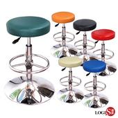 《LOGIS》MM彩虹高吧台椅/吧檯椅工作椅/美容椅/休閒椅/美髮椅 6色(藍)