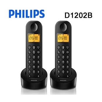 PHILIPS 飛利浦 數位無線子母無線電話機(D1202)
