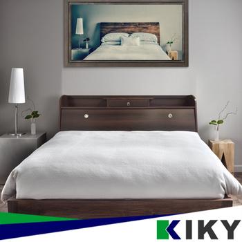 KIKY 武藏-床頭一抽加高雙人5尺二件組(床頭箱+床底)(胡桃色)