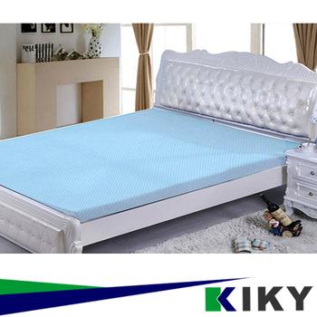 KIKY 3M防蹣抗菌-吸濕排汗暖暖雙人5尺記憶床墊~厚達5CM~(天空藍)