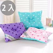 《三浦太郎》頂級天絲雙色點點兒童人體工學保護枕/2入3色(紫色+淺藍)