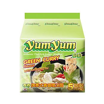 養養YumYum 養養 泰式綠咖哩湯麵(2袋組)(70g*5入/袋)