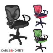 《凱堡》貝挺護腰墊片辦公椅 電腦椅 工作椅(黑)