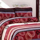 《Victoria》法蘭絨鋪棉加大床包四件組-繽紛(6x6.2尺)