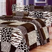 《Victoria》法蘭絨鋪棉加大床包四件組-爵士(6x6.2尺)