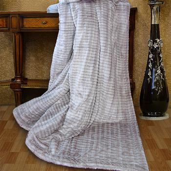 《Indian》3D仿貂毛雙人羊絨毯-灰(6x7尺 (180x210cm))