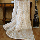 《Indian》3D仿貂毛雙人羊絨毯-金(6x7尺 (180x210cm))