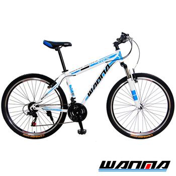 《WANMA》WM-1 26吋 日本SHIMANO 21速 登山車-服務升級版(白藍)
