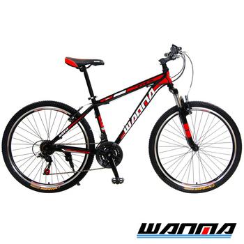 《WANMA》WM-1 26吋 日本SHIMANO 21速 登山車-服務升級版(黑紅)