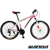《WANMA》WM-1 26吋 日本SHIMANO 21速 登山車-服務升級版(白紅)
