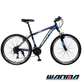 《WANMA》WM-1 26吋 日本SHIMANO 21速 登山車-服務升級版(黑藍)
