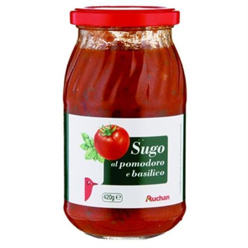 Auchan 義大利巴西利番茄麵醬(420g/瓶)