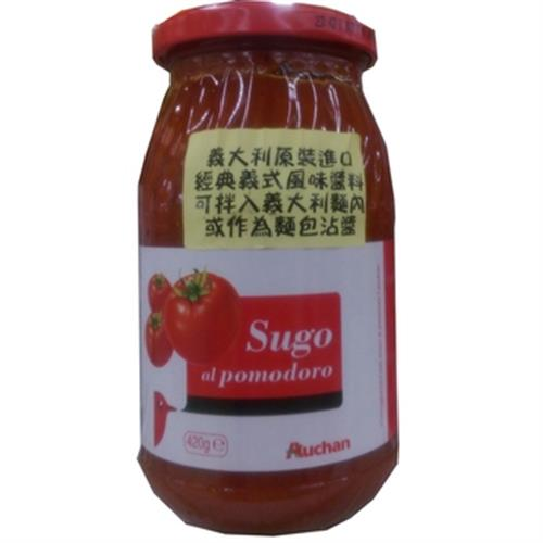 Auchan 蕃茄義大利麵醬(420g/瓶)