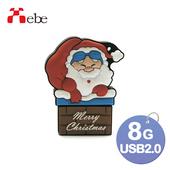 《Xebe集比》8G 造型USB隨身碟(煙囪老公公)
