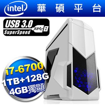 華碩H170平台 [白影統領]i7四核4GB獨顯SSD電玩機