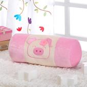 《星辰》粉彩小豬圓棍靠/抱枕(兩色可選)(粉藍色)