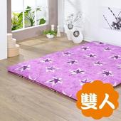 《戀香》大楓葉紫針織雙人床墊(雙人)