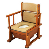 【海夫健康生活館】日本進口 輕巧便盆椅 (自在式把手)