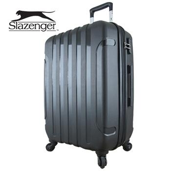 ★結帳現折★英國 Slazenger 史萊辛格 24吋 駭客直條紋行李箱/拉桿箱(爵士黑)
