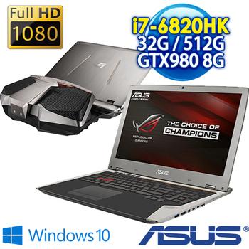 ASUS-預購 GX700VO-0031A6820HK 17.3吋FHD i7-6820HK GTX980 8G獨顯 可卸式水冷超頻電競筆電(銀)