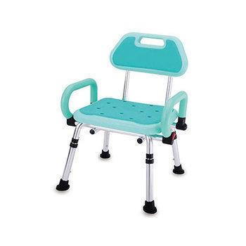 【海夫健康生活館】PU雙掀扶手有背洗澡椅