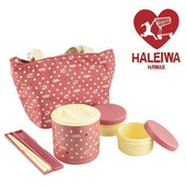 《日本HALEIWA》點點不銹鋼戶外野餐保溫罐(粉色)