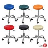《LOGIS》MM彩虹鐵腳工作椅/美髮椅/吧檯椅 6色(橘)