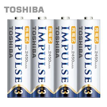 ★結帳現折★TOSHIBA IMPULSE高容量低自放電電池(2450mAh 3號4入)(3AHCC/4TW)