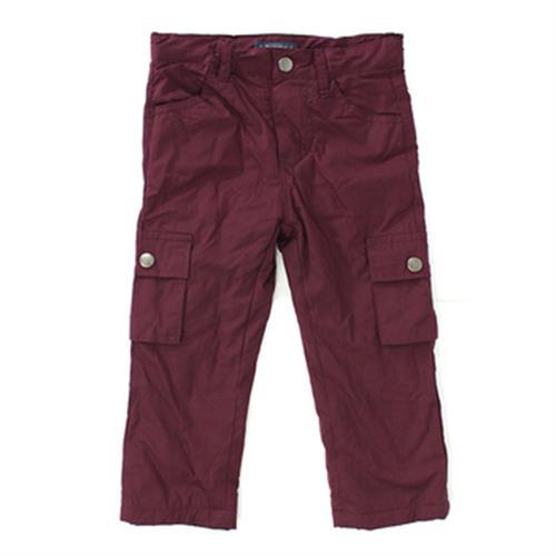 IN小女童內刷毛防風褲- 紫(80cm)
