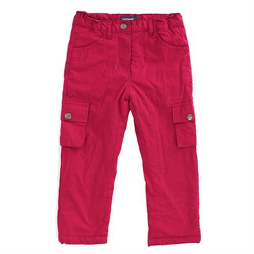 IN小女童內刷毛防風褲- 莓紅(80cm)