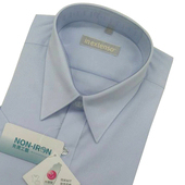《IN》短袖素色防皺襯衫-淺藍(16)