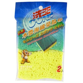 洗王 木漿海綿菜瓜布(11.5*7.5公分)