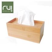 《Rui》台灣竹手工巧抽面紙盒(長型)