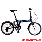 《BATTLE》HAN 歡騰 20吋 日本Shimano 7速 鋁合金折疊車(深藍)