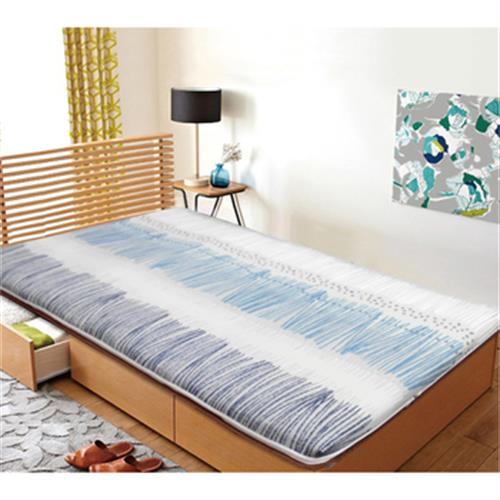 《台灣製》冬夏兩用平價輕便床墊 單人3x6尺 (90×180cm)(表布隨機出貨)