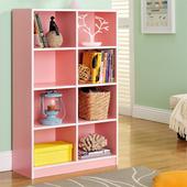 《佳嘉家》DIY輕鬆收納八格櫃/書櫃/置物櫃/收納櫃-兩色選擇(粉色)
